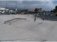 The huge skatepark!