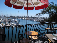 Lookout Bar and Grill, on the west finger at Harbor Blvd. What a great balcony overlooking the harbor!