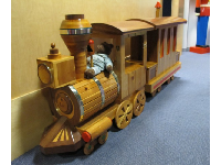 First floor: Teddy bear train to climb inside.