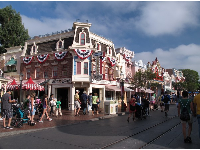 Main Street USA, what you see when you first walk in the park.