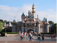 The castle that takes you into Fantasyland.