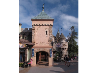Medieval buildings in Fantasyland.