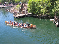 Davy Crockett's Explorer Canoes on Rivers of America.