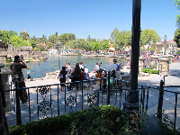View of Rivers of America from New Orleans Square- a totally cool spot!