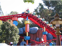 "Gadget Go Coaster in Toontown. Kids must be 35"" to ride."
