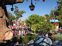 View of Toontown from Chip 'n Dale Treehouse.