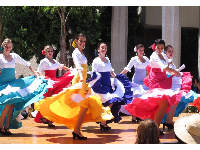 Fiesta celebration at La Cumbre Mall- look for these the first week of August on weekday afternoons.