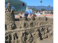 A sandcastle in progress!