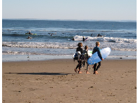 Carefree grommets at Campus Point on a November day.