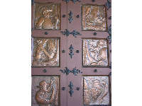 Hall Of Record's copper door.