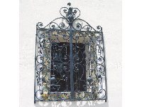 Wrought-iron window near the old Presidio Fortress.