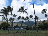 I love the mountain views from Kuliouou Beach Park.