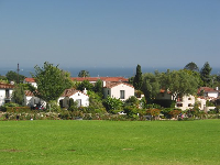 The rose garden, the houses on Plaza Rubio, and the ocean behind!