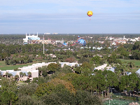 View of Disney Springs from the hotel.