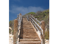 Stairway to the campgrounds.