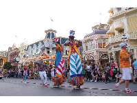 Afternoon parade which starts on Main Street USA.