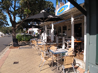 Cafe Ibiza on Old Barrenjoey Rd, just off Avalon Parade.