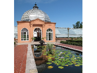 The Conservatory and lily pond.