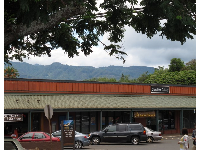 Lovely mountain backdrop in Haleiwa town.
