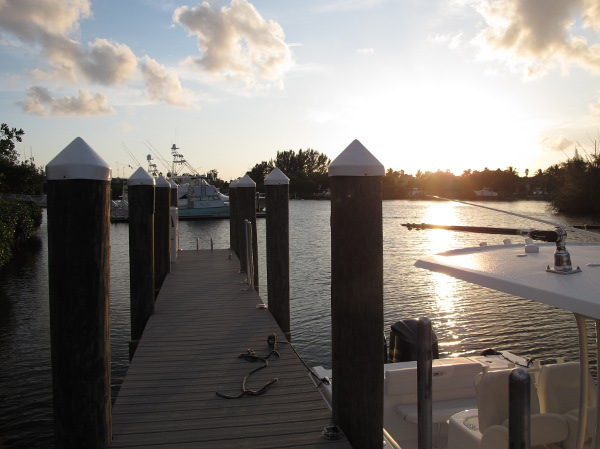 Sun setting at the dock.