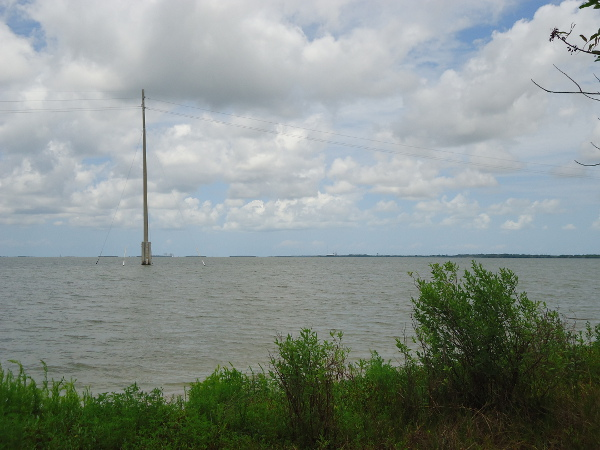I love the electric poles that stand in the water!