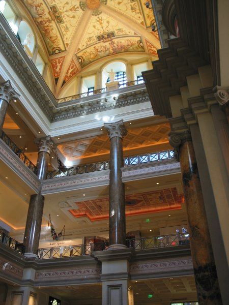 The incredible inside of the Caesar's Forum Shops.