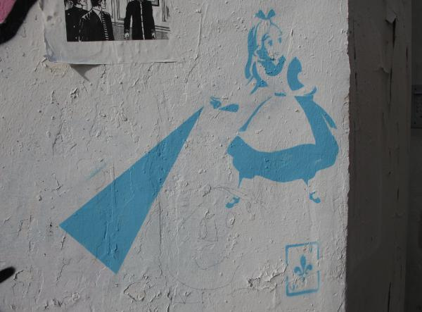 Alice in Wonderland graffiti!