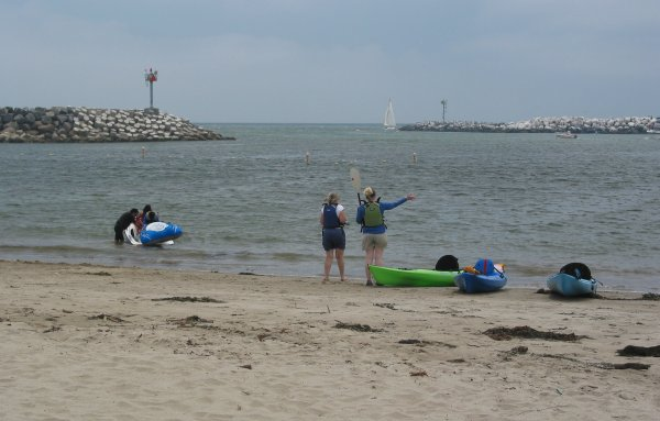The beach is a bit scungy but jet-skiers and kayakers enjoy it.