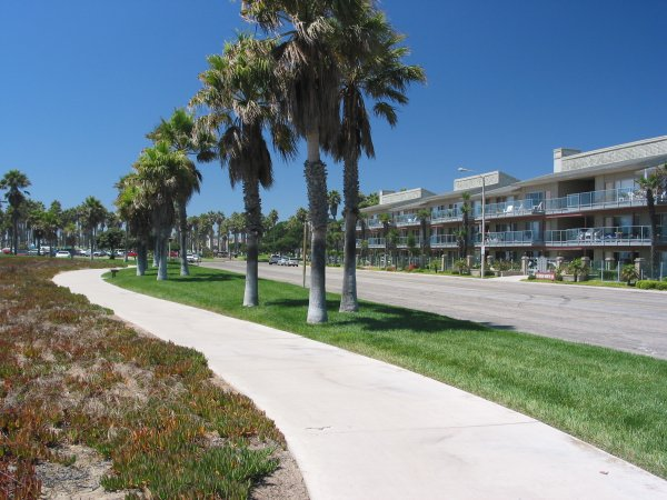 Walking paths along Ocean View Dr.