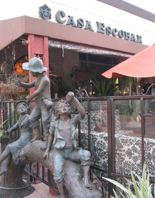 Statue outside Casa Escobar. There are lots of great statues in the delightful patio area too.