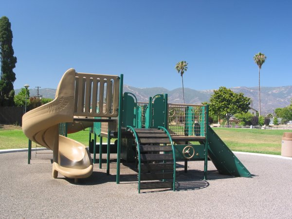 The playground, designed for the toddler crowd.