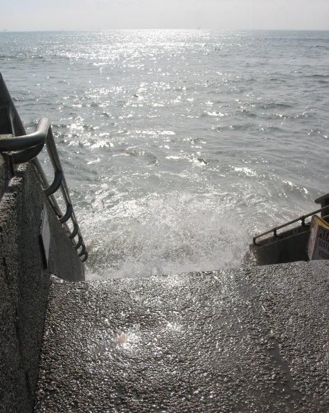 Stairs that lead straight into the water!