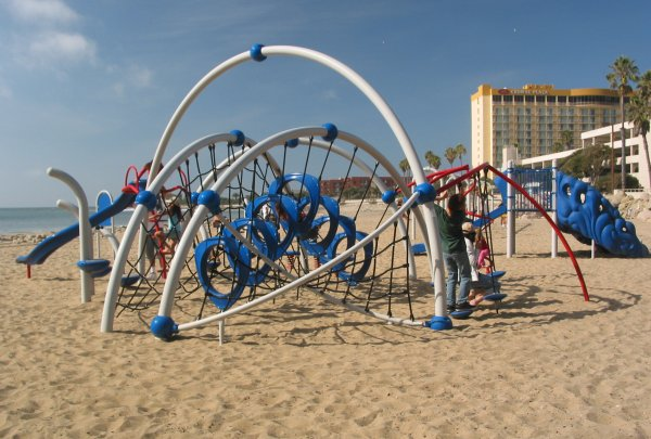 Space-age playground in the sand!