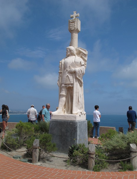 The limestone statue of explorer Cabrillo. I love it!