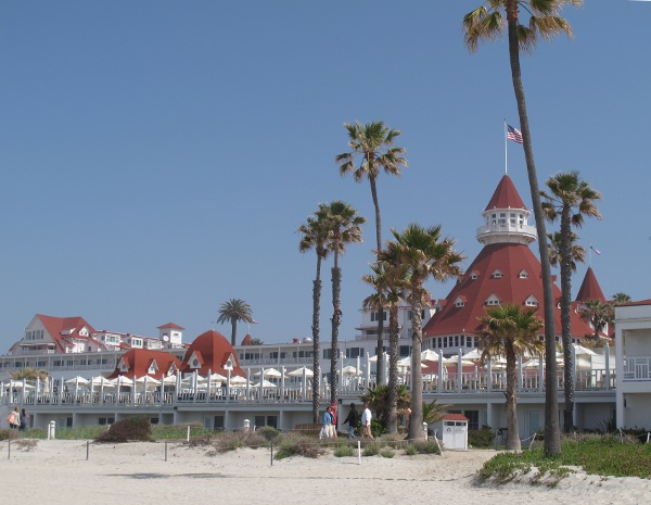Hotel del Coronado and Coronado Beach, San Diego California