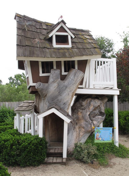 Someone had fun building this treehouse!