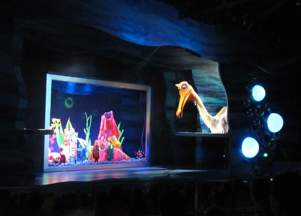 The giant pelican in the Finding Nemo musical!