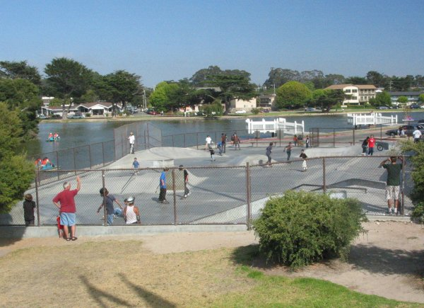 The skate park you can see from Dennis the Menace Park (you must walk around the stadium to get to it).