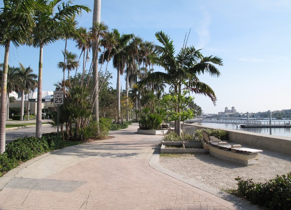 The West Palm Beach waterfront is a pretty spot.