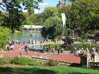 Bethesda Fountain, on a blissful October day.