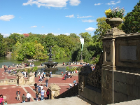 Bethesda Fountain, where the action is.