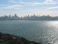 Views of San Fran's skyline from Alcatraz Island- the prisoners must have looked out and imagined all the fun they were missing.