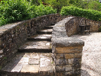 Stone arched walkway.