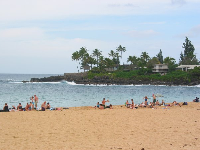 Summer day at Waimea Beach.