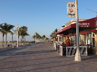 Cafes along the boardwalk.