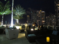 Roof-top bar on 16th floor of Epic Hotel.