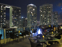 16th floor rooftop-restaurant, Area 31, at Epic Hotel.