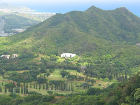 HPU, as seen from above, from Pali Lookout.