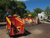 Mayor's Grove playground with its fire engine.