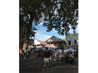 Busy Saturday in the town during the Gold Rush Days festival.